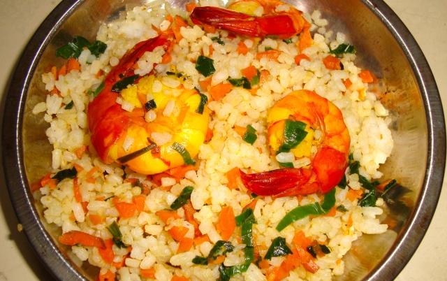 Rýže a krevetky