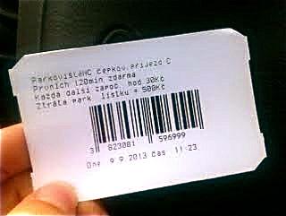 parkovací lístek