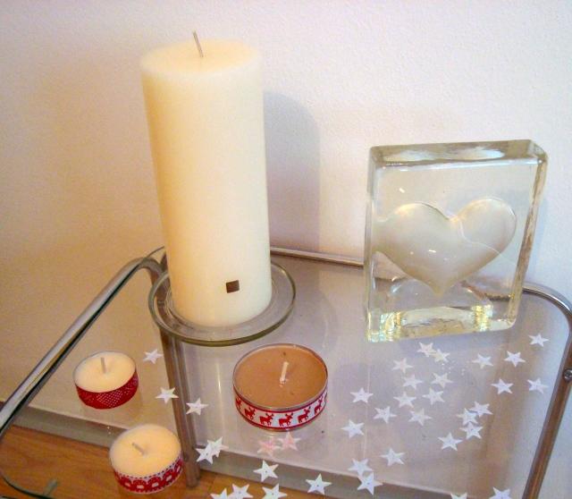 noční vánoční stolek