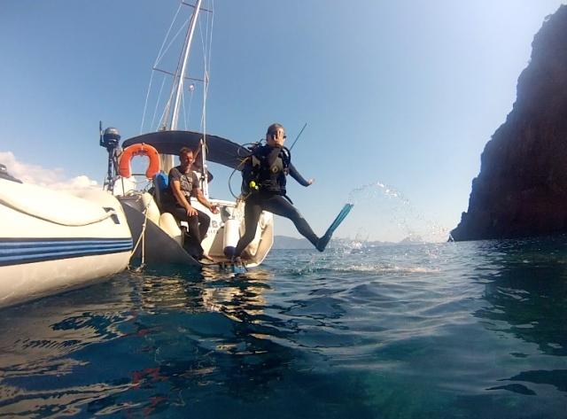První potápění