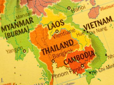 myanmar, thailand map