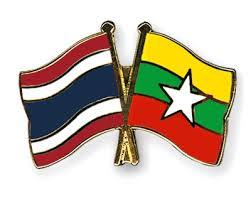 vlajka myanmar a tajsko