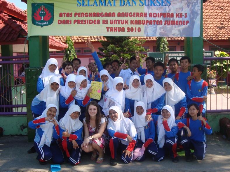 S mou nejoblíbenější třídou v Sumenepu, Indonésie 2010.