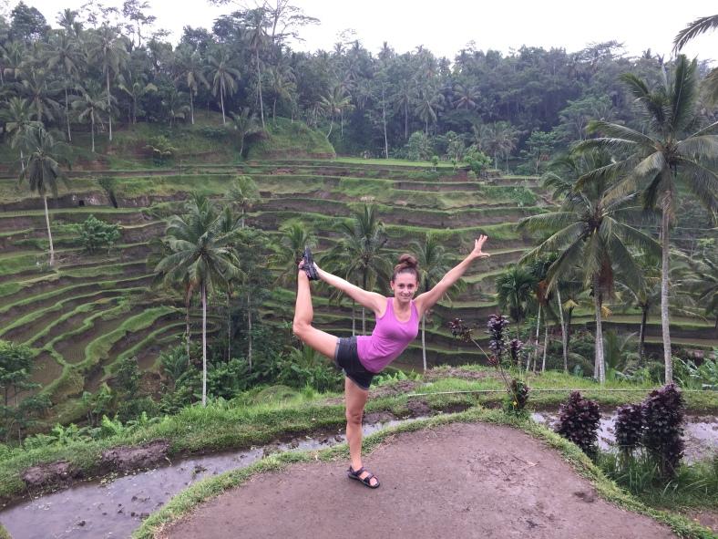 Na rýžových políčkách na Bali
