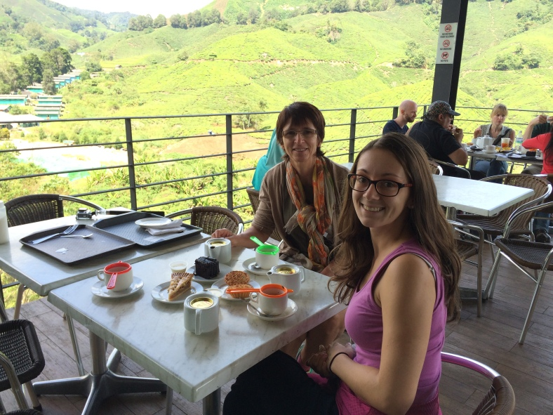 Na čajíku přímo na plantážích - Malajsie, Cameroon Highlands